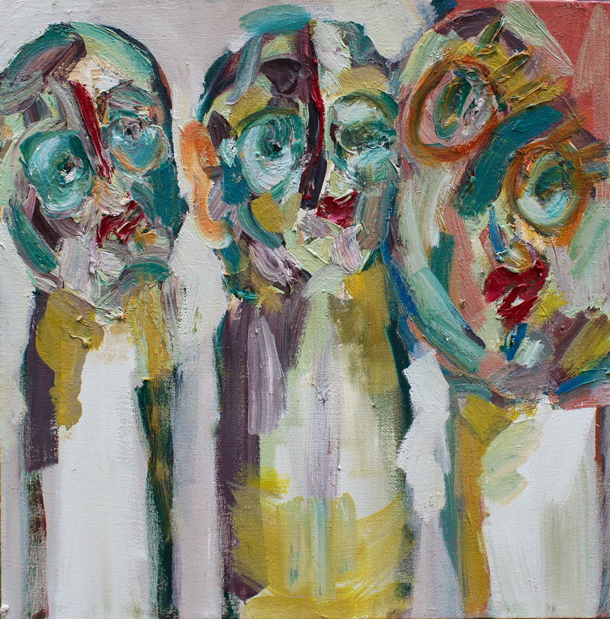 Jay-Miriam,-Three-Heads-Is-Better-Than-None,-2014,-56x56-cm,-oil-on-linen