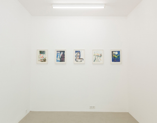 Rosa Loy - Aus naher ferne, 2014 (exhibition view at Ornis A. Gallery, Amsterdam)