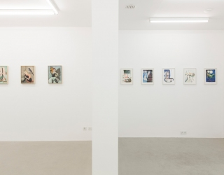 Rosa Loy - Aus naher ferne (exhibition view at Ornis A. Gallery, Amsterdam, 2014)