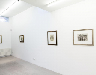 Hans Lemmen - 'A contribution to reality' & project space : new works by Mirjam Jacob, 2015 (exhibition view at Ornis A. Gallery, Amsterdam)