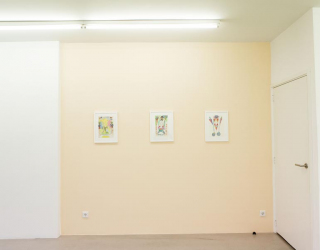 Personalities on paper II, 2015 (group exhibition) (exhibition view at Ornis A. Gallery, Amsterdam)