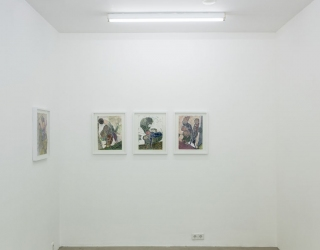 Exhibition view of 'Waldemar Zimbelmann at Ornis A. Gallery, Amsterdam, 2015