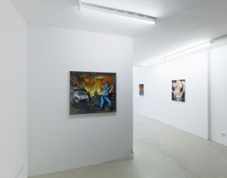 Julius Hofmann, Might of young engines, 2015 (exhibition view Ornis A. Gallery Amsterdam)