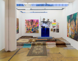 Tanja Ritterbex, installation view of solo booth at Art Rotterdam 2016