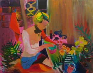 Tanja Ritterbex, Best time ever, 2015, 150 x 190 cm, oil on canvas