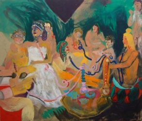 Tanja Ritterbex, Heavy Arabs, 2015, 170 x 200 cm, oil on canvas