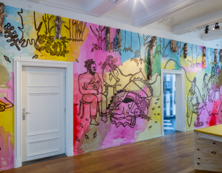 Installation view 'The Painted Bird' at Marres, Maastricht, 2017