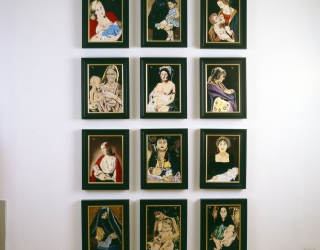 Marliz Frencken, Madonna's serie, 1991, 35 x 25 cm, oil on canvas (each panel)