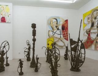 Crazy woman at Ornis A. Gallery, Amsterdam, The Netherlands, 2015