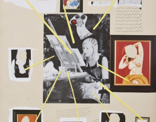 Marliz Frencken, Selfportrait, 2015 65 x 50 cm, collage and pencil on paper