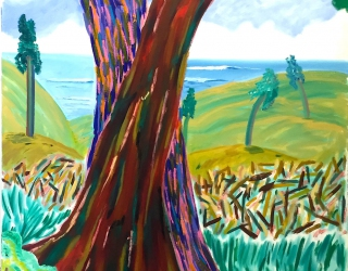Shara Hughes, Tree Huggers, 2016, 121,9 x 101,6 cm, oil on canvas