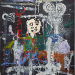 Thierry Oussou, Power language, 2016, 200 x 152 cm, mixed media on paper