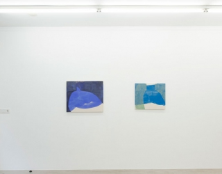 Young New Painters, exhibition overview at Ornis A. Gallery, works by Tamina Amadyar