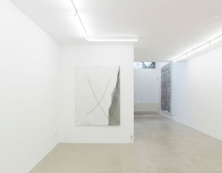 Young New Painters, exhibition overview at Ornis A. Gallery, works by Janine van Oene and Koen Doodeman