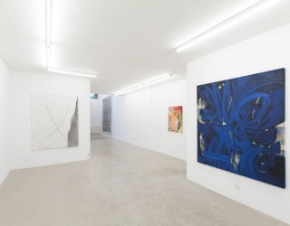 Young New Painters, exhibition overview at Ornis A. Gallery, works by Janine van Oene and Tanja Ritterbex
