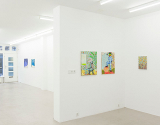 Young New Painters, 2017 (exhibition overview) works by Bart Kok