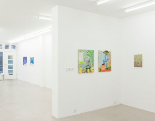 Young New Painters, exhibition overview, works by Bart Kok