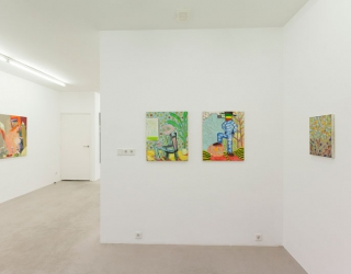 Young New Painters, exhibition overview at Ornis A. Gallery, works by Bart Kok