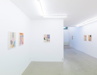 Duncan Hannah - Painting of Collages, 2017 (exhibition view at Ornis A. Gallery, Amsterdam)