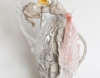 Marliz Frencken, 'Sissi', 2008, 55 cm, clay and mixed media in resin