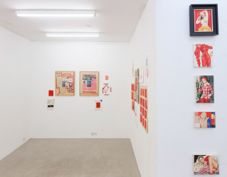 Exhibition view: Marliz Frencken - Selection 1985 - 2017, Beware of a red painting, Ornis A. Gallery, Amsterdam, 2017