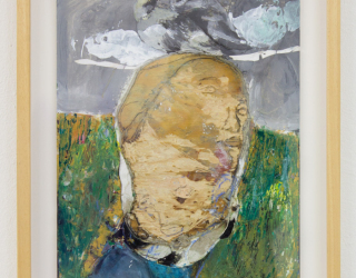 Waldemar Zimbelmann, Untitled, 2016-2017, 42 x 25 cm, mixed media on cardboard